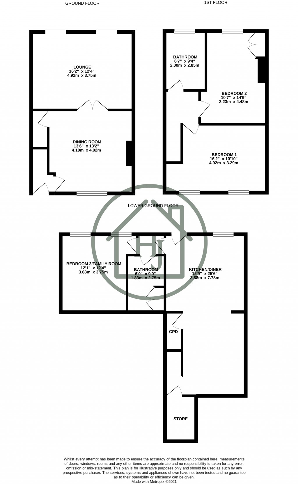 Floorplans For Golcar, Huddersfield, West Yorkshire